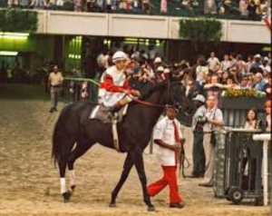 Ruffian on her way to the Match Race