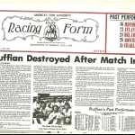 Daily Racing Form after the accident