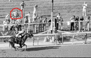 Ray with the best seat in the house for Affirmed and Alydar